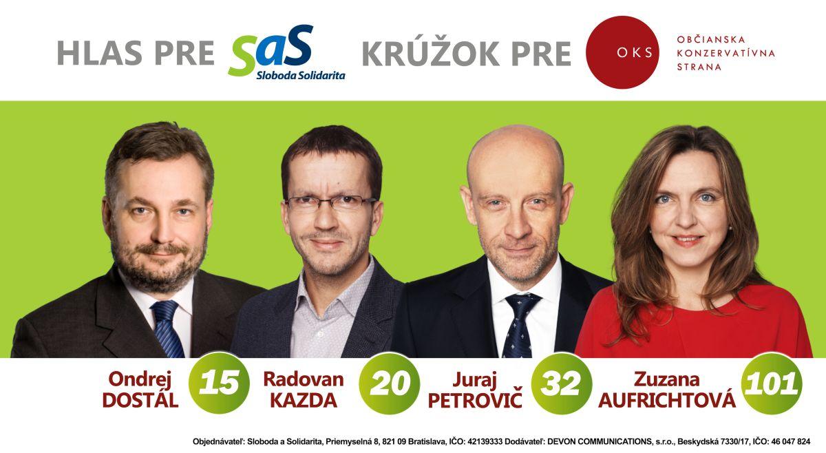 Kandidáti OKS na SaS