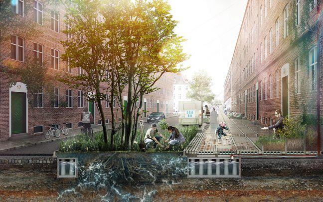 V Dánsku majú chodník, ktorý recykluje vodu