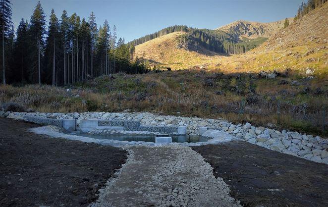 Liptovskí vodári upravili záchyt na vodnom zdroji Zadná voda